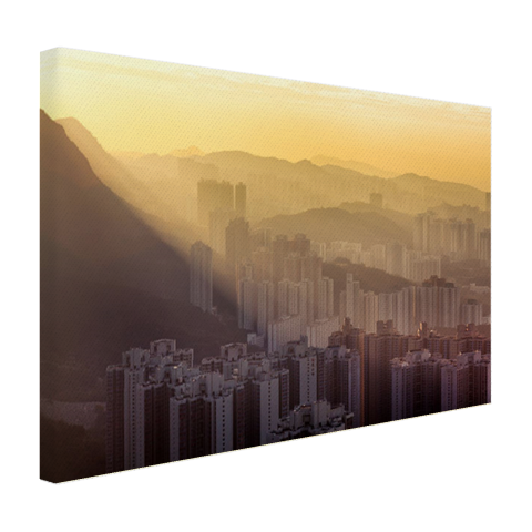 Bergen Hong Kong op canvas