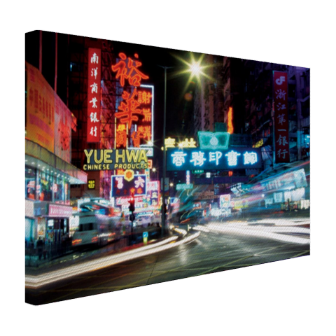 Hong Kong neon lichten canvas