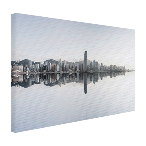 Hongkong skyline op canvas