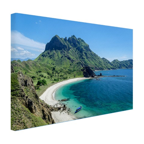 Uitzicht over Padar eiland Indonesie Canvas