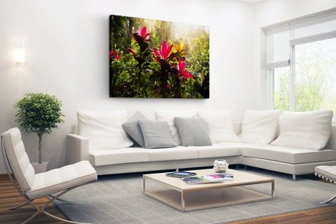 Prachtige tempel middenin de jungle Canvas