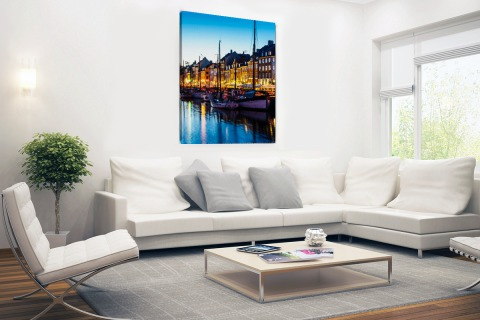 Nyhavn by night Canvas