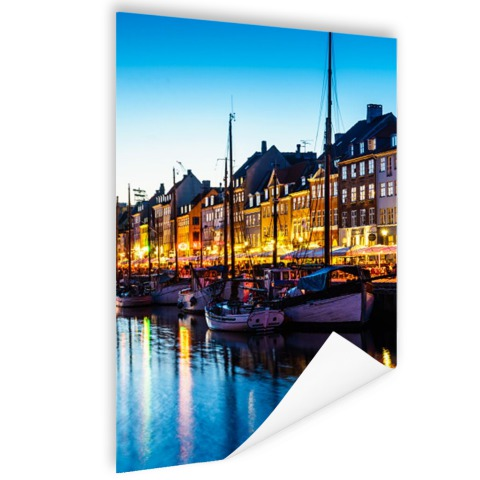Nyhavn by night Poster