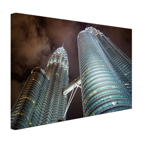 Petronas Towers KL glow canvas
