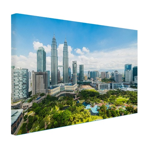Skyline KL Petronas Towers op canvas