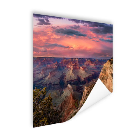 Zonsondergang Grand Canyon Poster