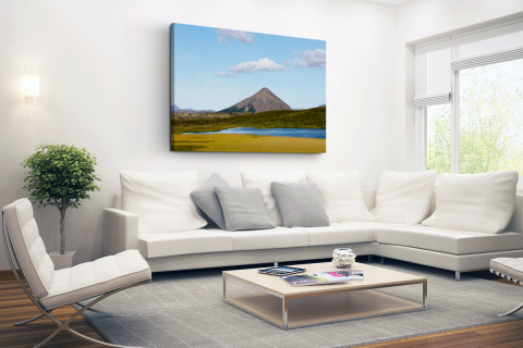 Vulkanisch landschap in IJsland Canvas