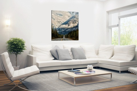 Canadees berglandschap Canvas