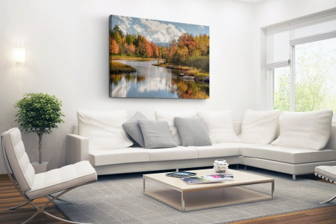Herfstlandschap fotoprint Canvas
