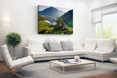 Landschap in Wales Canvas
