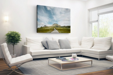 Noors landschap fotoprint Canvas