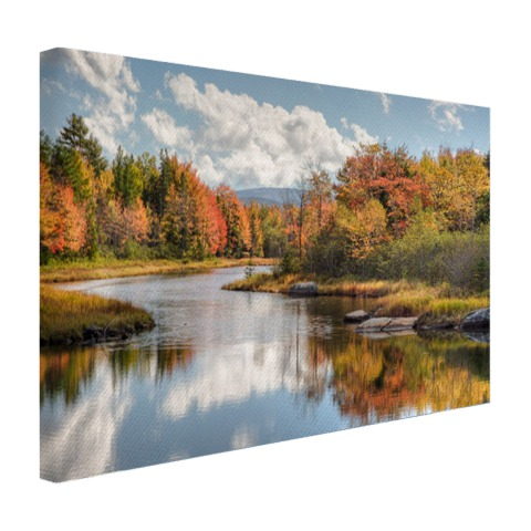 Fotoprint herfstlandschap op canvas