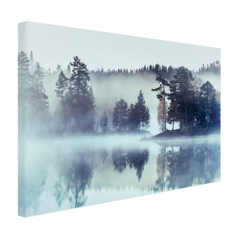 Fotoprint mistig landschap op canvas