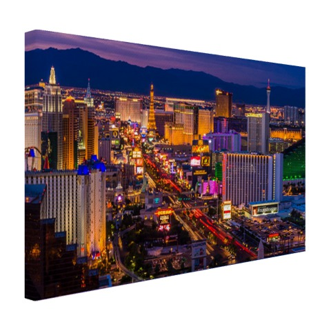 Las Vegas by night Canvas