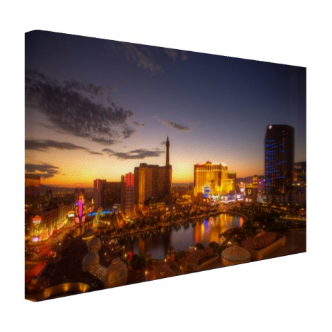 Las Vegas in avondlicht Canvas