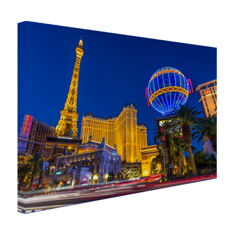 Las Vegas Strip bij schemering Canvas