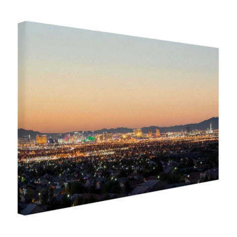 Las Vegas Strip bij zonsondergang Canvas