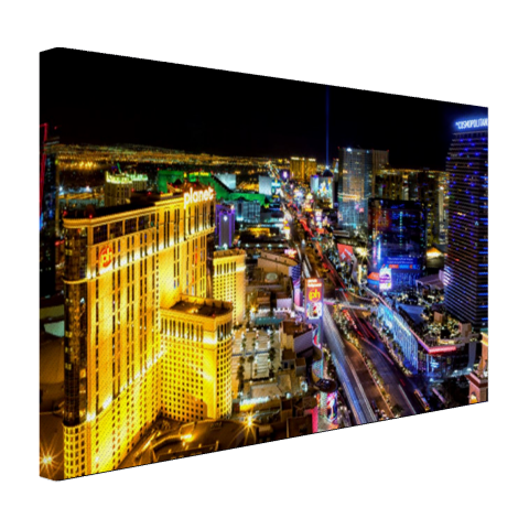 Skyline Las Vegas in de nacht Canvas
