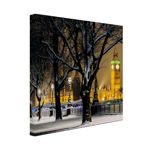 De Big Ben in de winter Canvas