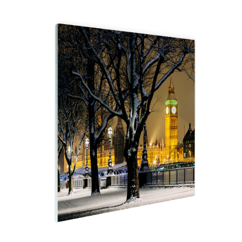 De Big Ben in de winter Glas
