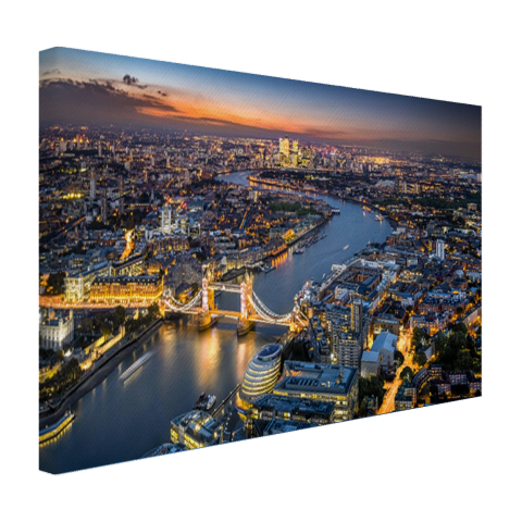 De skyline van London Canvas