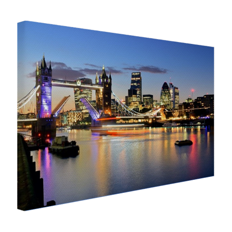 Een geopende Tower Bridge Canvas