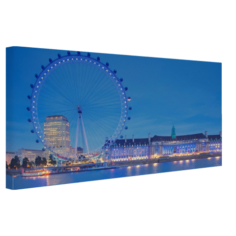 London Eye bij nacht Canvas