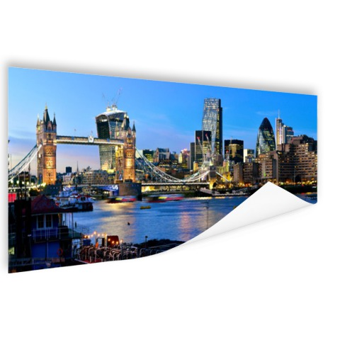 Fotoposter met Londen skyline en Tower bridge