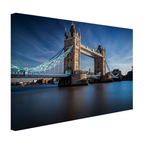 Tower bridge foto over Thames op canvas