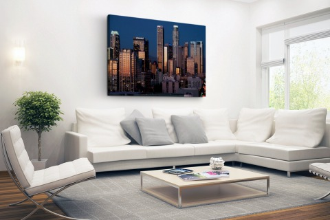 Los Angeles avond skyline Canvas
