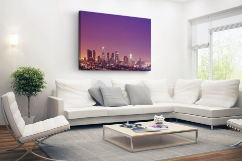 Los Angeles bij nacht Canvas