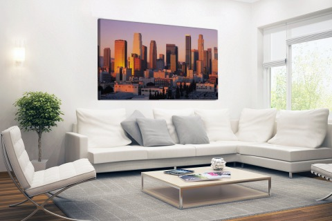 Panorama skyline Los Angeles Canvas