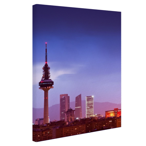 De torens van Madrid Canvas