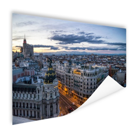 Madrid skyline muurdecoratie