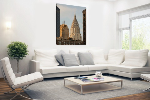 Manhattan Wolkenkrabbers Canvas