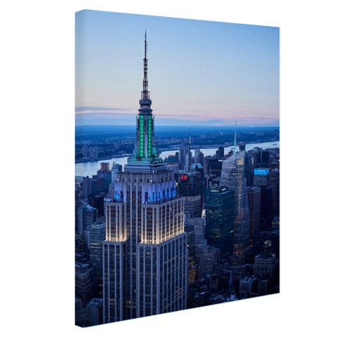 Empire State Building bij zonsondergang Canvas