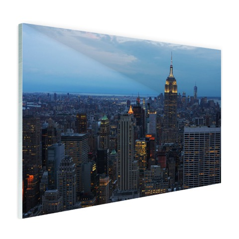 Lower Manhattan fotoprint Glas