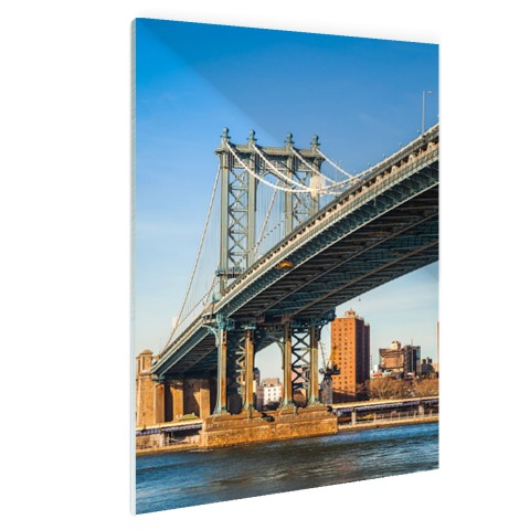 Manhattan brug in New York City Glas