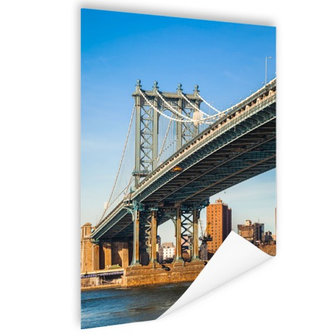 Manhattan brug in New York City Poster