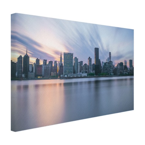 Manhattan New York skyline zonsondergang Canvas