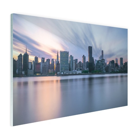 Manhattan New York skyline zonsondergang Glas
