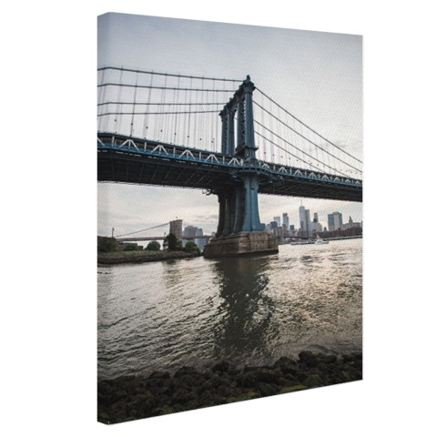 NewYork Manhattan Bridge zonsondergang Canvas