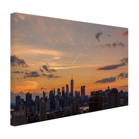Zonsondergang centrum Manhattan Canvas