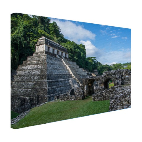 Piramide van Palenque Mexico fotoprint Canvas