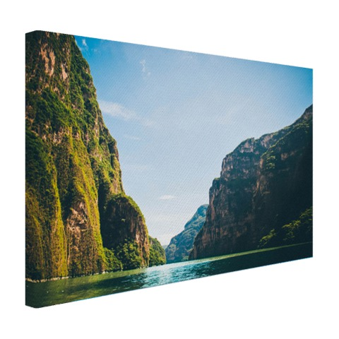 Sumidero canyon in Mexico op canvas