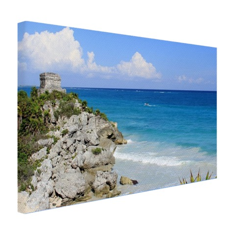 Tulum ruïnes Mexico fotoprint Canvas