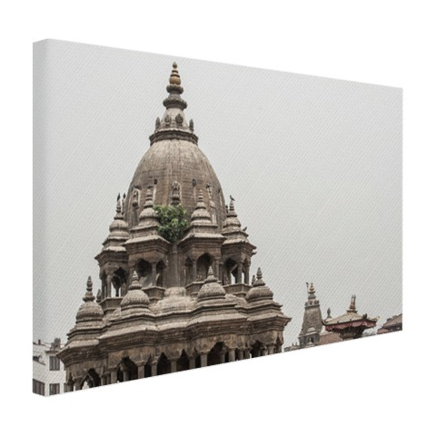 De tempel in Bhaktapur Canvas