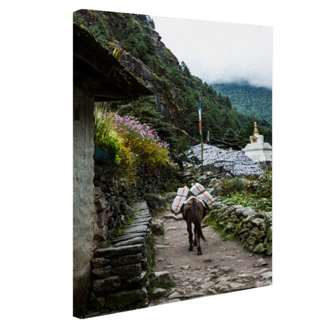 Everest basiskamp Nepal fotoprint Canvas