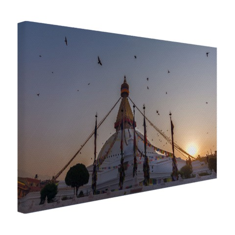Monument Nepal Canvas