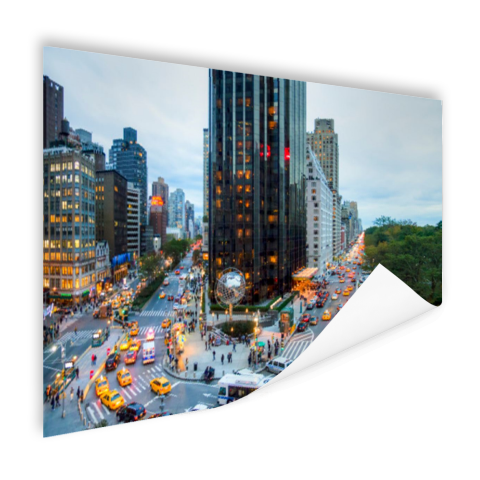 Broadway en Central Park West Poster